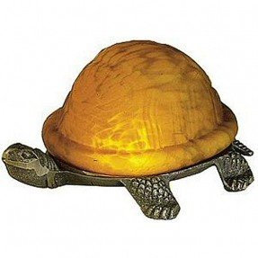 Leadlight turtle light amber