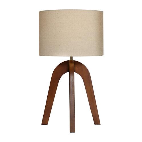 Noah timber tripod table lamp