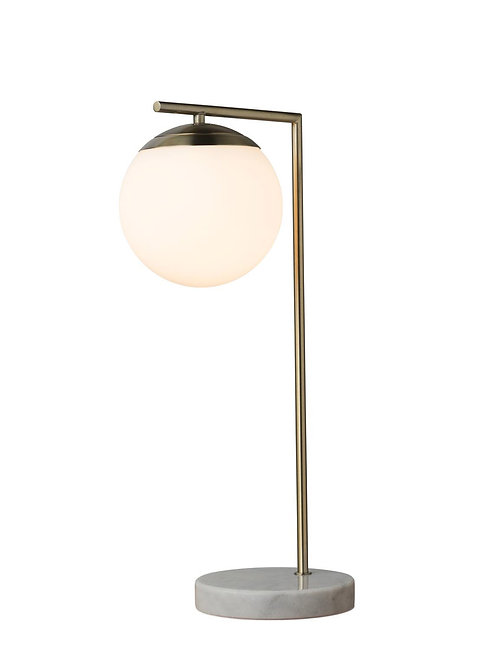 Remi antique brass and marble table lamp