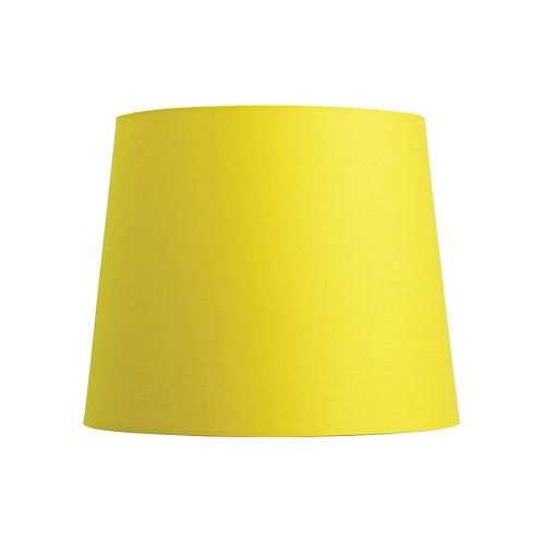 Sundial yellow cotton 27cm tapered drum shade