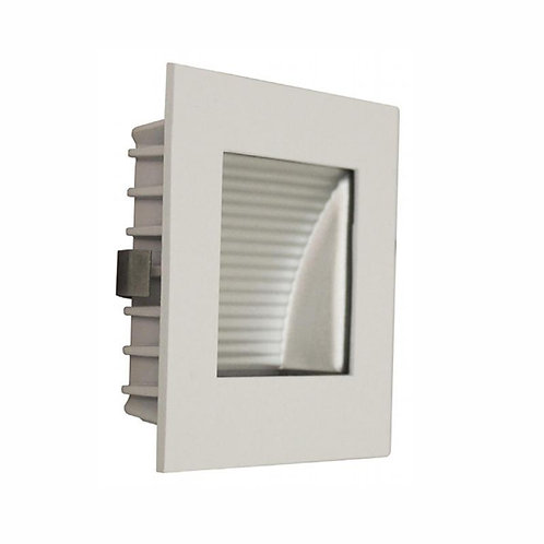 AT9500 White square stair light - clear fascia