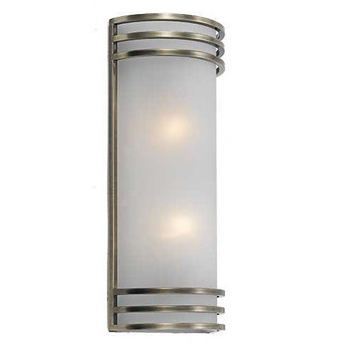 Fargo satin chrome 2lt wall sconce