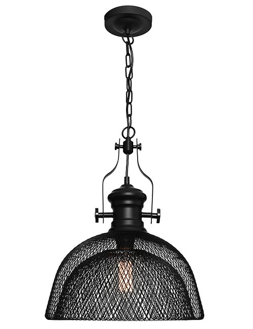 Argyle large black mesh 1lt large pendant