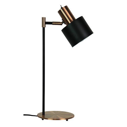 Ari black and copper desk lamp