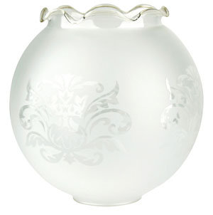 RG101 Frost spherical glass with clear frill