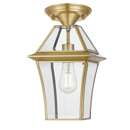 Rye 1lt antique brass exterior close to ceiling