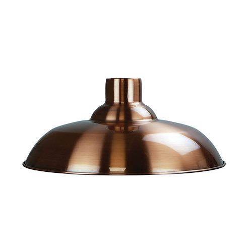 Slater 38 brushed copper metal pendant on cloth cord suspension
