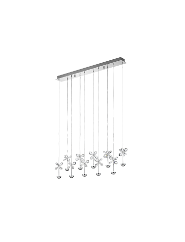 Straight Pianopoli LED Crystal Chandelier