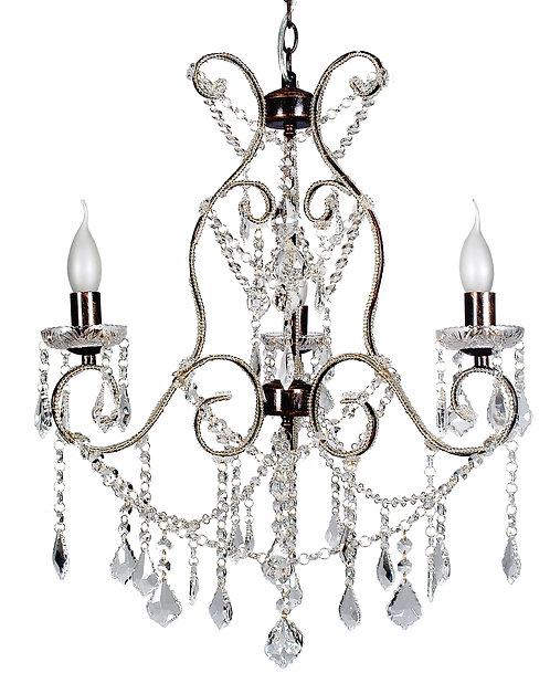 Venice 3 Antique Brass Chandelier