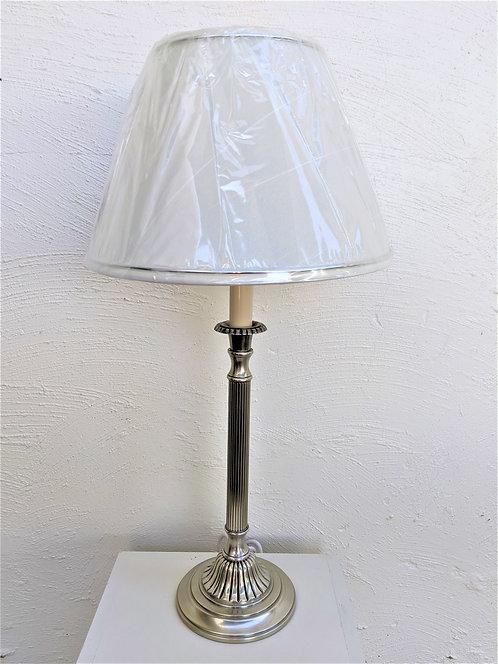 Satin Chrome Queen Anne lamp