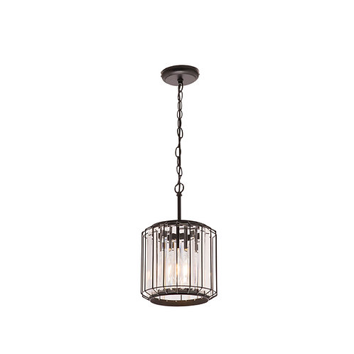 Olympia black and crystal 1lt pendant