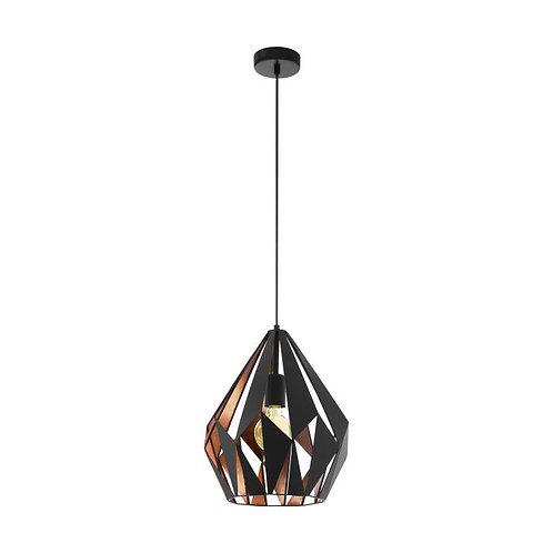 Medium Carlton black/copper pendant