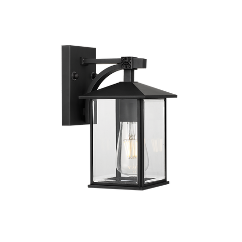 Coby black exterior wall light