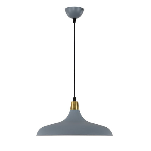Alek grey metal pendant