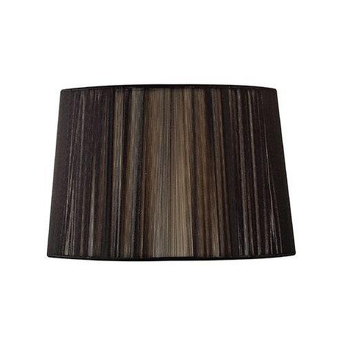Black tapered drum shade