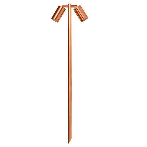 Copper finish 2lt adjustable 12v path spike spot