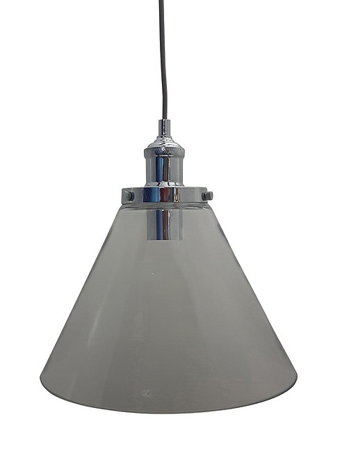 P1720LC Large clear conical glass with industrial look cord