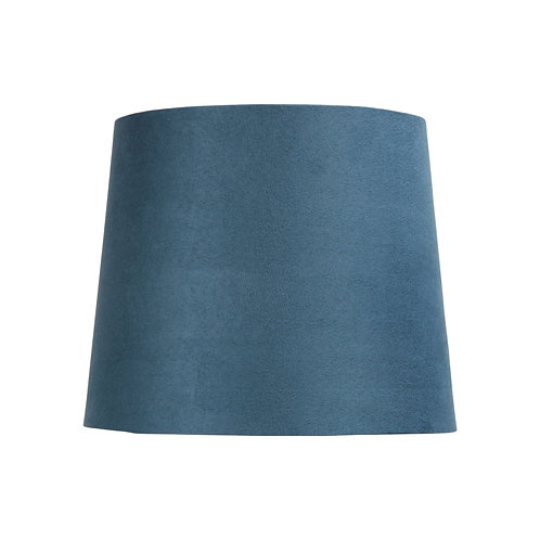 Steel blue suede 27cm tapered drum shades
