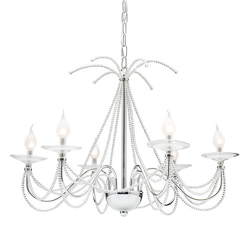 Cologne 12v  6lt beaded chandelier