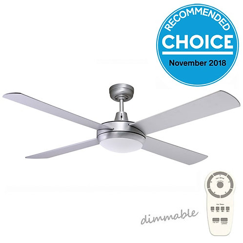 "Fanco Urban 2 DC 52"" (1320mm) Ceiling Fan with LED - Brushed Aluminium"