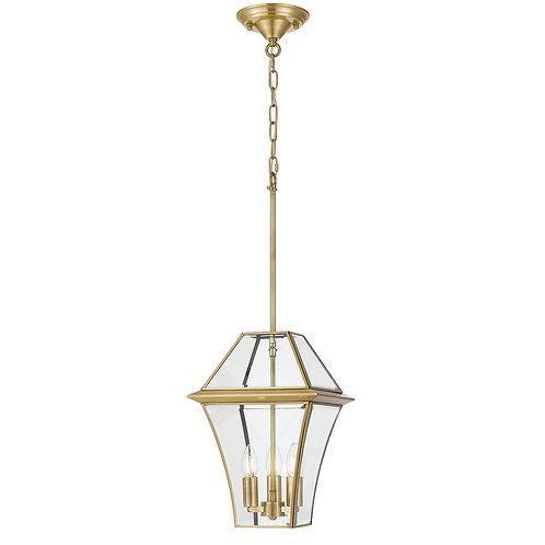 Rye 3lt antique brass exterior lantern