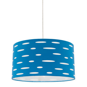 Darcy blue fabric shade