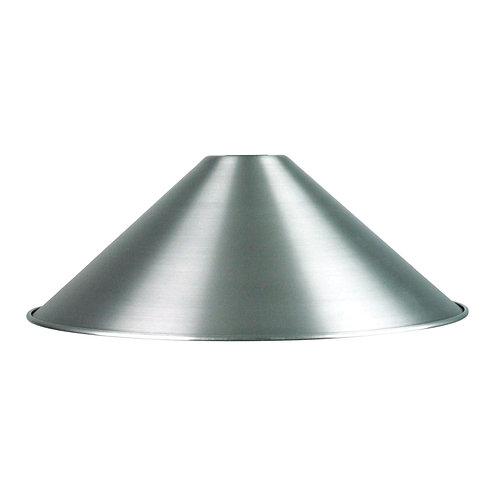 "14"" Satin chrome metal shade"
