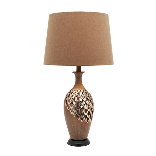 Blomeley antique gold wash table lamp complete with gold shade