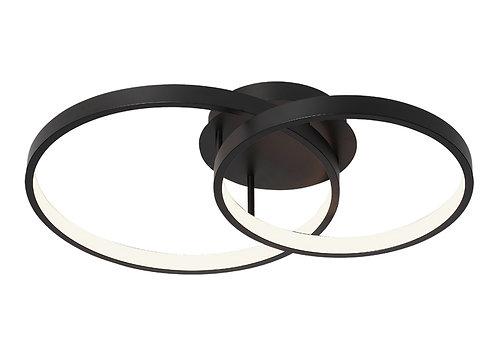 Zola 2 ring LED black pendant