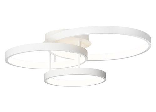 Zola 3 ring LED black pendant
