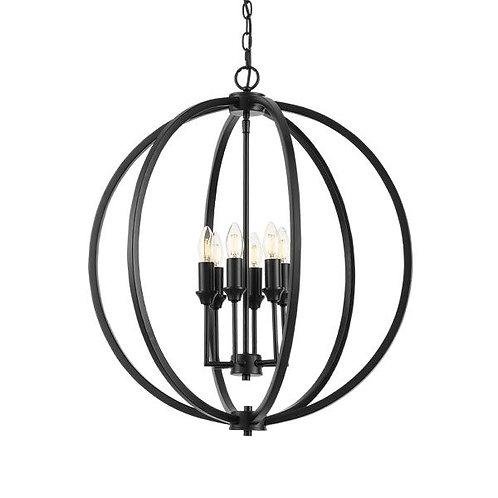Kendall black 6lt pendant