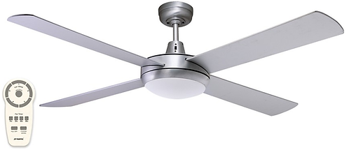 "Martec Lifestyle DC 24watt LED 52"" (1300mm) Ceiling Fan - Brushed Aluminium"