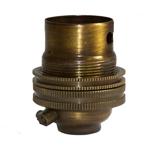 Brass B22 Lamp Holder