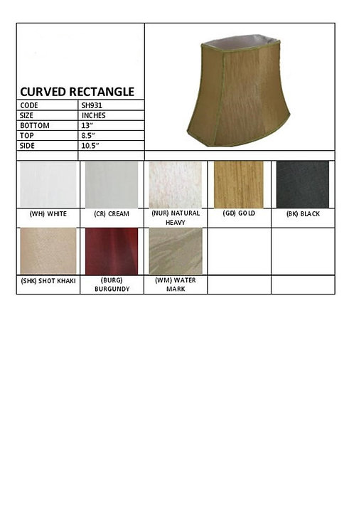 """13"""" Curved rectangular waisted shade -assorted colours"""