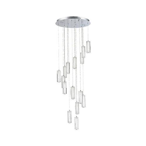 LED Mania 15 Light Crystal Pendant