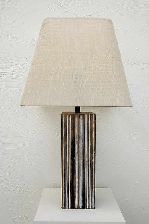"""Dezray timber look base with 14"""" Square shade"""