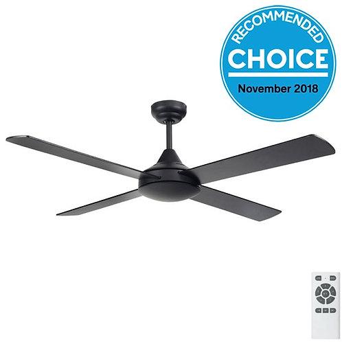 """Fanco Eco Silent DC 52"""" (1320mm) Ceiling Fan - Black"""