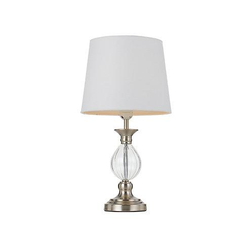 Crest satin nickel table lamp