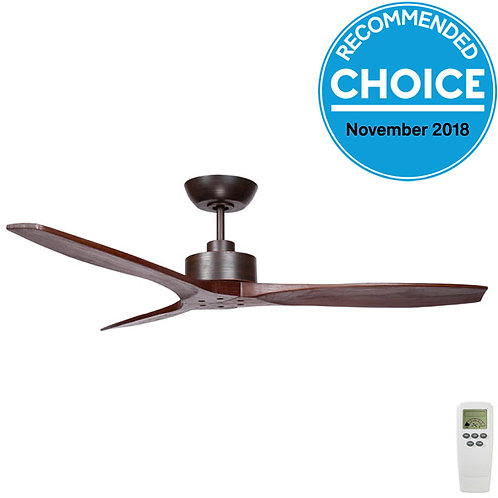 "Fanco Wynd DC 54"" (1370mm) Ceiling Fan - Bronze with Walnut Blades"
