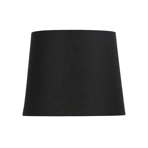 Black linen 27cm tapered drum shades