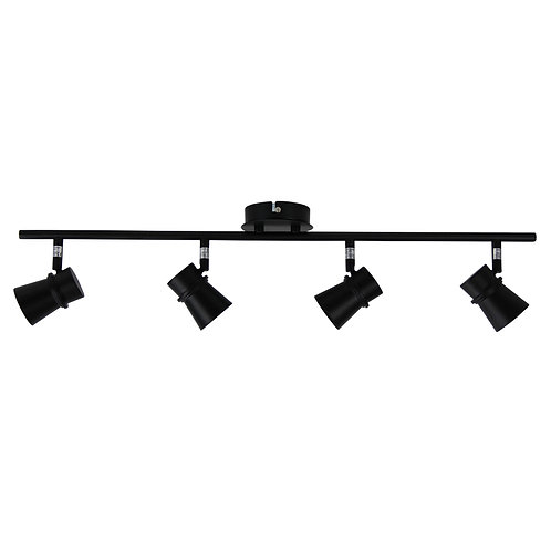 Yarra 4 Light GU10 black - adjustable spotlight