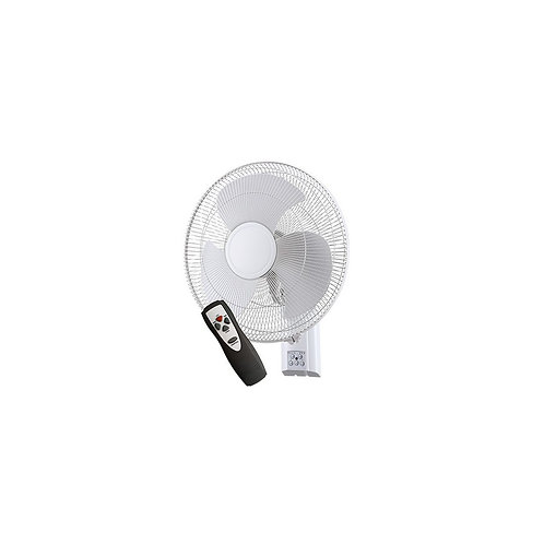 Zephyr II with Remote 400mm Wall Fan - White