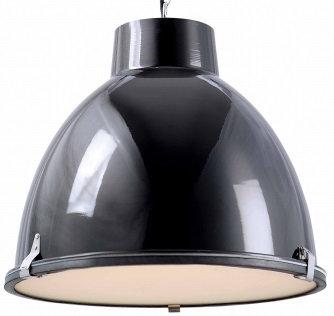 Cibo 1 Light Black Aluminium Pendant