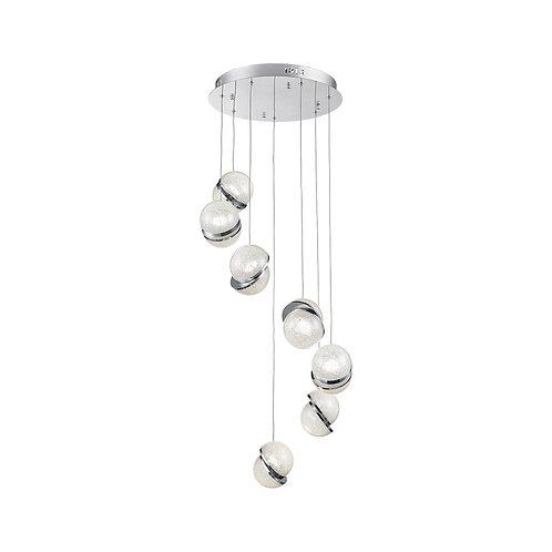 LED Uranus 7 Light Crystal Pendant