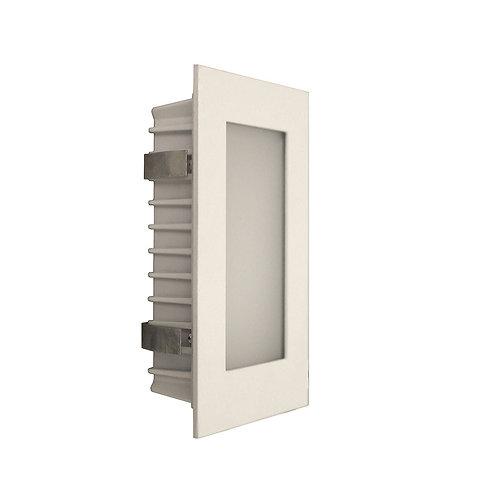AT9501 White rectangular stair light - opal fascia