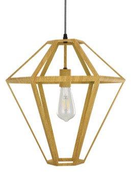 Tetra timber look pendant