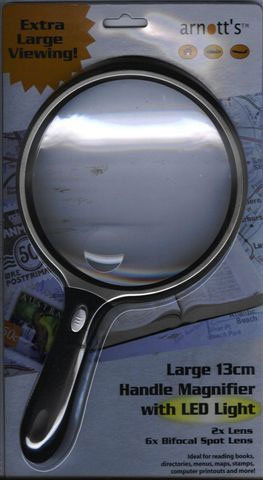 13cm Circular Handle Magnifier with LED Light