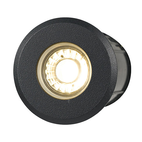 Luc 3 Black LED in-ground deck light