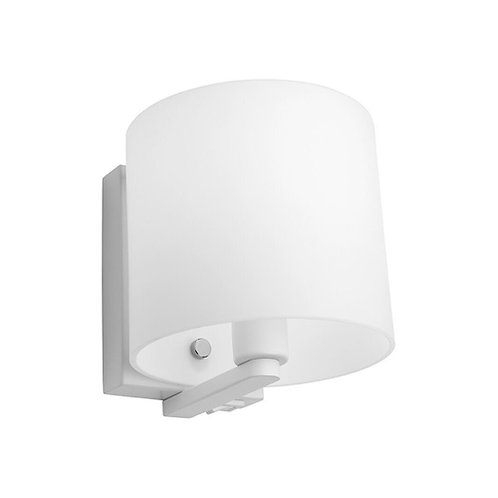 Tida white wall light with switch