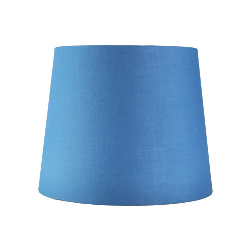 Wanaka blue cotton 27cm tapered drum shade